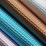 装飾的な包装のためのSynthetci PUの革水晶のように金属T/Cの支持