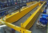 철사 밧줄 호이스트를 가진 유럽 유형 전기 두 배 대들보 머리 위 여행 기중기