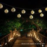 Lumière actionnée solaire de chaîne de caractères de 12LED Maroc pour la décoration de jardin (RS1001)