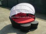 Кровать ротанга Hc-W-Lb06 круглые и ротанг Sunbed