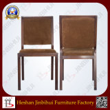Jinbihui Factory High Performance Timber Grain Effect Restaurant Dining Chair (BH-FM3018)