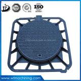 下水管のためのEn124鋳鉄の排水かSpeticタンクまたはカバーか円形の下水管または蝶番を付けられたマンホールカバー