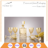 Volles Set-befestigt Glaswein-Flasche Glascup