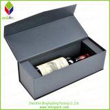 Boîte à vin d'emballage de cadeau de papier de rectangle de DIY avec la soie de garniture intérieure