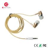 Fones de ouvido plásticos dos esportes dos auscultadores do fio com sons estereofónicos