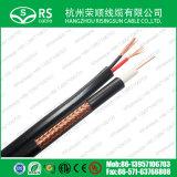De Kabel van kabeltelevisie Rg59 met 2*0.75mm² De Kabel van het Koord van de macht voor Camera