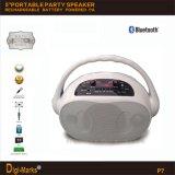 Altoparlante portatile senza fili della cassa di risonanza LED Bluetooth di musica dell'UL RoHS
