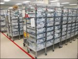 Estante de la estantería del alambre de metal del cromo de las gradas del NSF 6 para Hospital&Drugstore