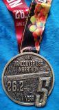 Kundenspezifische Andenken-Medaille für Marathon Vancouver-USA, thermisches Übergangsfarbband