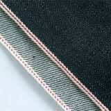 ткань средств тяжелых джинсыов PU 14.7oz голубая с зальбандом 96161074
