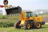 5トンの高品質のフロント・アタッチメントが付いている中国のフロント・エンド車輪のローダー