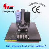 Machine d'impression chaude à haute pression de T-shirt de machine de transfert de T-shirt de la chaleur de machine plate à haute pression de presse Stc-SD05