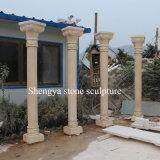 Colonna di marmo della scultura di pietra beige (SY-C022)