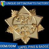 2017 emblemas personalizados do ouro do metal das vendas presente quente