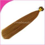 Extensões quentes do cabelo de Remy da fusão da venda por atacado do cabelo humano da ponta da vara
