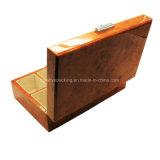 Casella di memoria di legno della vigilanza dell'alto di lucentezza della lacca 8 Burl delle scanalature
