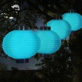 8 pulgadas de decoración de nylon colorida que cuelga la linterna solar