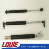 Resorte de gas plano del remache del metal con el material de acero para el tronco de coche
