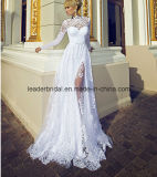 Длинние мантии Lace a Sleeves Bridal - линия Split Wedding Dresses Z2041