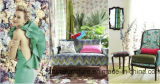 Tela de los muebles en sofá de los muebles del sofá