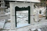 백색 Carrara 고대 손에 의하여 새겨지는 대리석 벽난로 벽로선반 Sy-Mf326