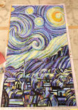 Mosaico di disegno della priorità bassa, mattonelle di vetro della parete del mosaico del reticolo di arte (HMP886)