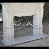 Marmeren Open haard mfp-359 van Carrara van de Open haard van het Graniet van de Steen Witte