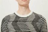 Специальной свитер людей Knit картины круглой Striped шеей