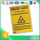 Biohazards medizinische überschüssige gelbe Beutel