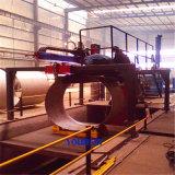 工場縦方向のシーム溶接機械