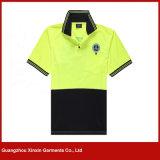 Melhores camisas 100% de T personalizadas do polo do poliéster da qualidade (P161)