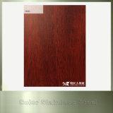 304 Plaque en acier inoxydable en bois pour mur extérieur