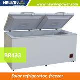 433L DC 태양 가슴 냉장고 태양 급속 냉동 냉장실 냉장고