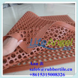 Usine de la Chine du couvre-tapis en caoutchouc de cuisine de sûreté en gros de cuisine