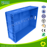 Caixa plástica Stackable material dos PP do Virgin azul