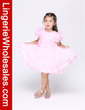 I capretti dentellano la principessa in rilievo e fiorita Wedding Flowergirl Dress