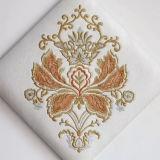 Tessuto del cuoio della tappezzeria Semi-UNITÀ DI ELABORAZIONE con il fiore del ricamo di stile cinese per la carta da parati, cuscino molle