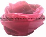 Продукция OEM подгоняла напечатанный логосом Bandana ветоши Hoo полиэфира изготовленный на заказ
