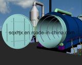 Pneu à maquinaria da refinação de petróleo por Pirólise e por processo de destilação