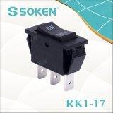Soken Rk1-17 1X3 encendido apagado en el interruptor de eje de balancín 3pins