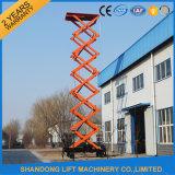 8m entfernbare Luftarbeit-Plattform mit der Kapazität des Aufzug-500kgs