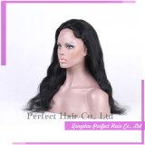 Pelucas llenas brasileñas del pelo humano de la Virgen del frente del cordón de Glueless