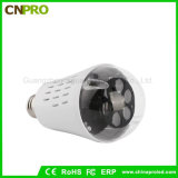 Ampoule tournante automatique en gros d'éclaille d'effet de la lumière de laser d'étape d'E27 4W DEL
