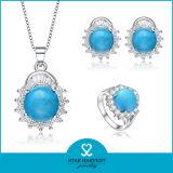 Reeks van de Juwelen van de Halfedelsteen van de manier de Zilveren die in China wordt gemaakt (j-0140)
