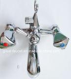 Misturador de bronze do chuveiro do banheiro com suporte