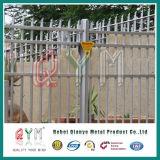 Frontière de sécurité en acier de palissade de qualité en fer travaillé