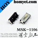 China Factory Top Push Slide Switch com 7 pinos SMD Type (MSK-1106)