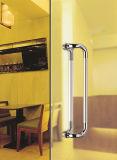 Traitement de porte en verre de traction d'acier inoxydable