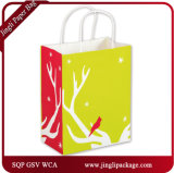 Bold Flower Shoppers Custom Design Printed Kraft Shopping Sac en papier
