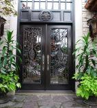 美しいスクロール作業が付いている安全錬鉄のドア